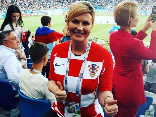Колинда Грабар-Китарович на русском поблагодарила россиян и призвала сегодня болеть за хорватов