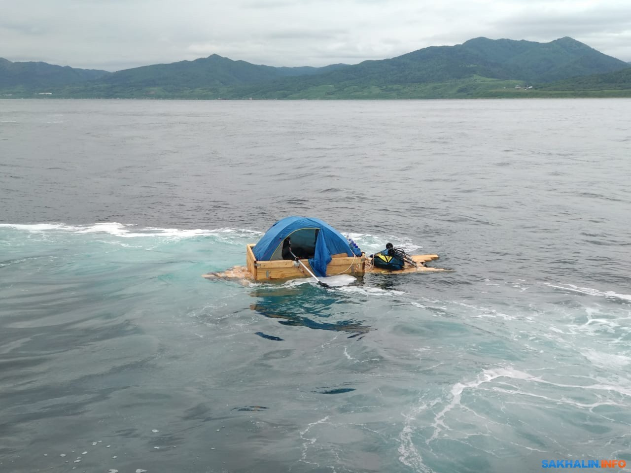 Житель села Правда хотел уплыть в Японию на самодельной лодке (Иллюстрация 1 из 1) (Фото: с сайта sakhalin.info)