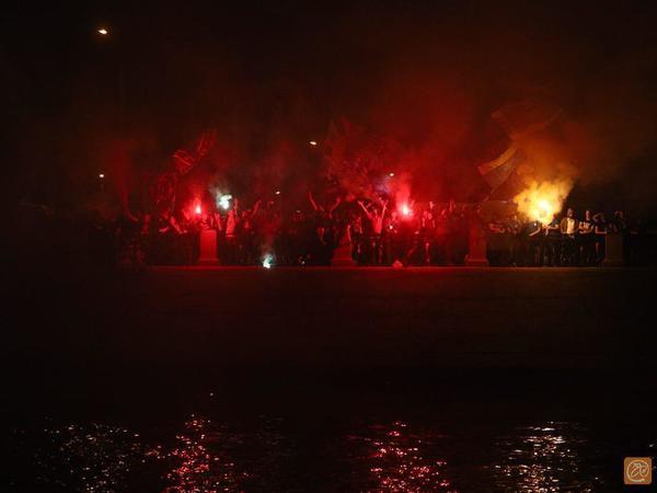 Фанаты «Зенита» зажгли после разгрома минского «Динамо»