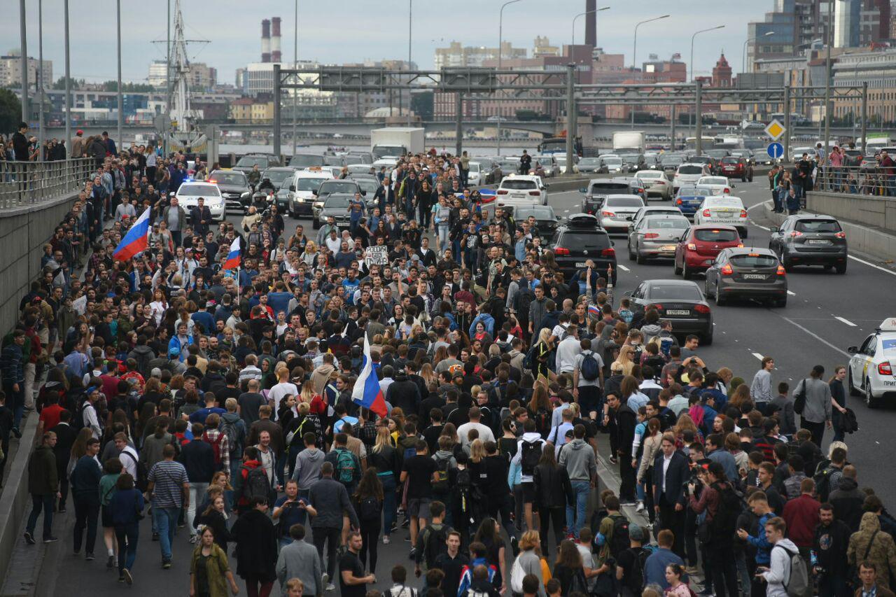 В Петербурге на акции против пенсионной реформы задержаны 500 человек (Иллюстрация 1 из 4) (Фото: Ксения Клочкова /