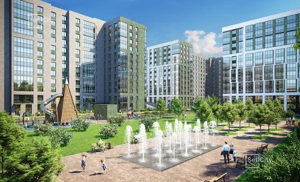 Жилой комплекс «Эмеральд на Малой Неве». Фото предоставлено компанией «Петербургская Недвижимость».