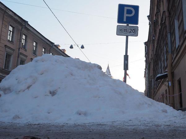 Бесплатно парковаться в центре Петербурга можно. Если вы сугроб