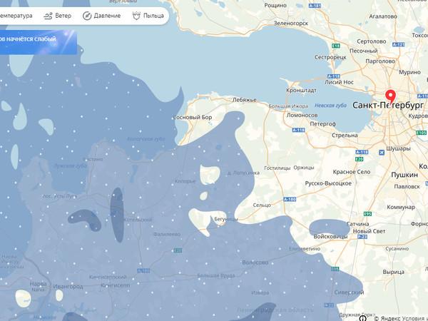 Линия фронта близко. Снег идёт на Петербург. Под ним уже Гостилицы и Кингисепп